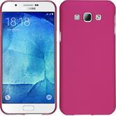 Hardcase Galaxy A8 gummiert pink