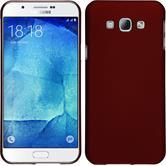 Hardcase Galaxy A8 (2015) gummiert rot + 2 Schutzfolien