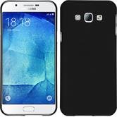 Hardcase Galaxy A8 (2015) gummiert schwarz + 2 Schutzfolien