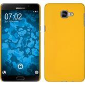 Hardcase Galaxy A9 gummiert gelb + 2 Schutzfolien