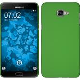 Hardcase Galaxy A9 gummiert grün + 2 Schutzfolien
