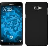 Hardcase Galaxy A9 gummiert schwarz + 2 Schutzfolien