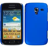 Hardcase Galaxy Ace 2 gummiert blau