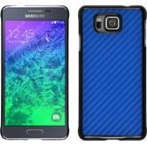 Hardcase Galaxy Alpha Carbonoptik blau