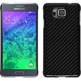 Hardcase für Samsung Galaxy Alpha Carbonoptik schwarz