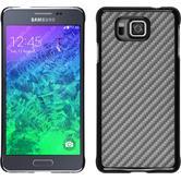 Hardcase Galaxy Alpha Carbonoptik silber + 2 Schutzfolien