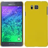 Hardcase für Samsung Galaxy Alpha gummiert gelb