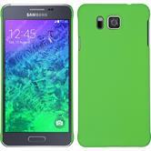 Hardcase Galaxy Alpha gummiert grün + 2 Schutzfolien