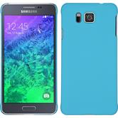 Hardcase Galaxy Alpha gummiert hellblau + 2 Schutzfolien
