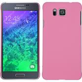 Hardcase Galaxy Alpha gummiert rosa