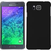 Hardcase für Samsung Galaxy Alpha gummiert schwarz