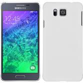Hardcase für Samsung Galaxy Alpha gummiert weiß