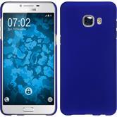 Hardcase Galaxy C5 gummiert blau + 2 Schutzfolien
