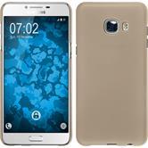 Hardcase Galaxy C5 gummiert gold + 2 Schutzfolien
