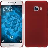Hardcase Galaxy C5 gummiert rot + 2 Schutzfolien