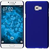Hardcase Galaxy C7 Pro gummiert blau + 2 Schutzfolien