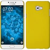Hardcase Galaxy C7 Pro gummiert gelb + 2 Schutzfolien