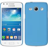Hardcase for Samsung Galaxy Core Plus rubberized light blue