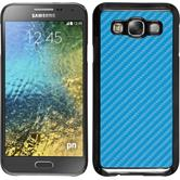 Hardcase Galaxy E5 Carbonoptik blau