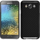 Hardcase Galaxy E5 Carbonoptik schwarz