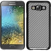 Hardcase Galaxy E5 Carbonoptik silber