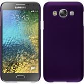 Hardcase Galaxy E5 gummiert lila + 2 Schutzfolien