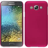 Hardcase for Samsung Galaxy E5 rubberized hot pink