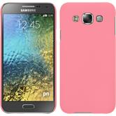 Hardcase for Samsung Galaxy E5 rubberized pink