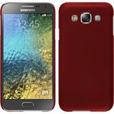 Hardcase for Samsung Galaxy E5 rubberized red