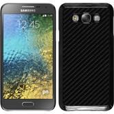 Hardcase Galaxy E7 Carbonoptik schwarz