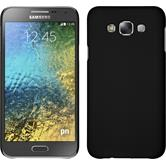 Hardcase Galaxy E7 gummiert schwarz