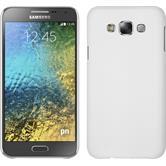 Hardcase Galaxy E7 gummiert weiß + 2 Schutzfolien