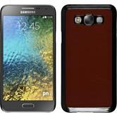 Hardcase für Samsung Galaxy E7 Lederoptik braun