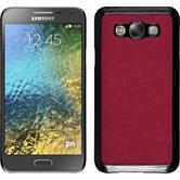 Hardcase Galaxy E7 Lederoptik pink + 2 Schutzfolien