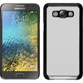 Hardcase Galaxy E7 Lederoptik weiß + 2 Schutzfolien
