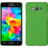 Hardcase für Samsung Galaxy Grand Prime gummiert grün