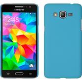 Hardcase für Samsung Galaxy Grand Prime gummiert hellblau