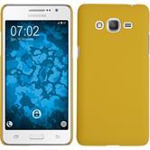 Hardcase Galaxy Grand Prime Plus gummiert gelb + 2 Schutzfolien