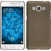 Hardcase Galaxy Grand Prime Plus gummiert gold + 2 Schutzfolien
