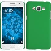 Hardcase Galaxy Grand Prime Plus gummiert grün + 2 Schutzfolien
