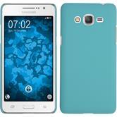 Hardcase Galaxy Grand Prime Plus gummiert hellblau + 2 Schutzfolien