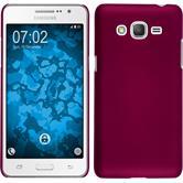 Hardcase Galaxy Grand Prime Plus gummiert pink + 2 Schutzfolien