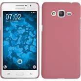 Hardcase Galaxy Grand Prime Plus gummiert rosa + 2 Schutzfolien