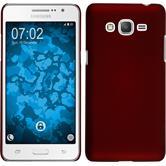 Hardcase Galaxy Grand Prime Plus gummiert rot + 2 Schutzfolien