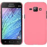 Hardcase Galaxy J1 (J100 2015) gummiert rosa