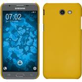Hardcase Galaxy J3 Emerge gummiert gelb + 2 Schutzfolien