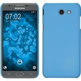 Hardcase Galaxy J3 Emerge gummiert hellblau + 2 Schutzfolien