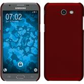 Hardcase Galaxy J3 Emerge gummiert rot + 2 Schutzfolien