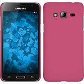 Hardcase Galaxy J3 gummiert pink