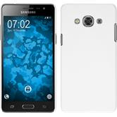 Hardcase Galaxy J3 Pro gummiert weiß